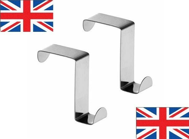 Charmant Set Of 2 Stainless Steel Over Door Reversable Hooks Hangers For Thick/thin  Doors 1 Of 4FREE Shipping See More
