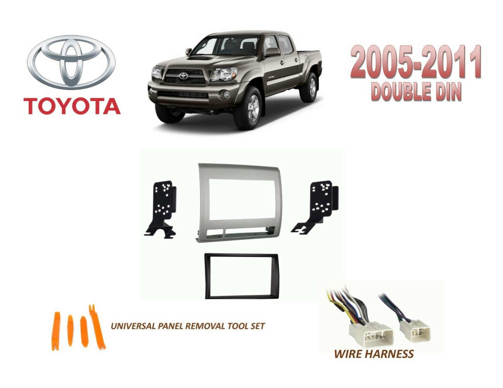 Toyota Tacoma Double Din Car Stereo Radio Installation Dash Mount Wire Harness 1 Of 2 See More