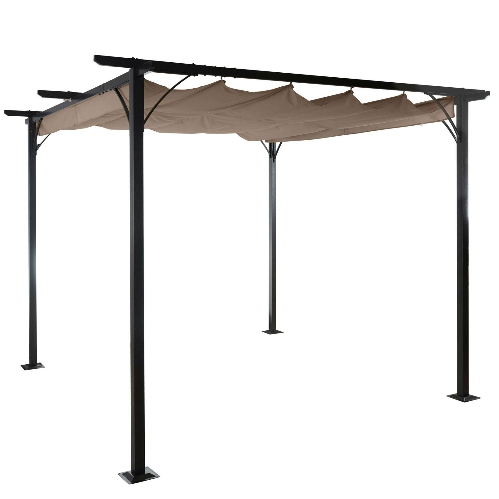 pergola mcw c42 garten pavillon 6cm gestell schiebedach 3 5x3 5m taupe eur 245 99. Black Bedroom Furniture Sets. Home Design Ideas