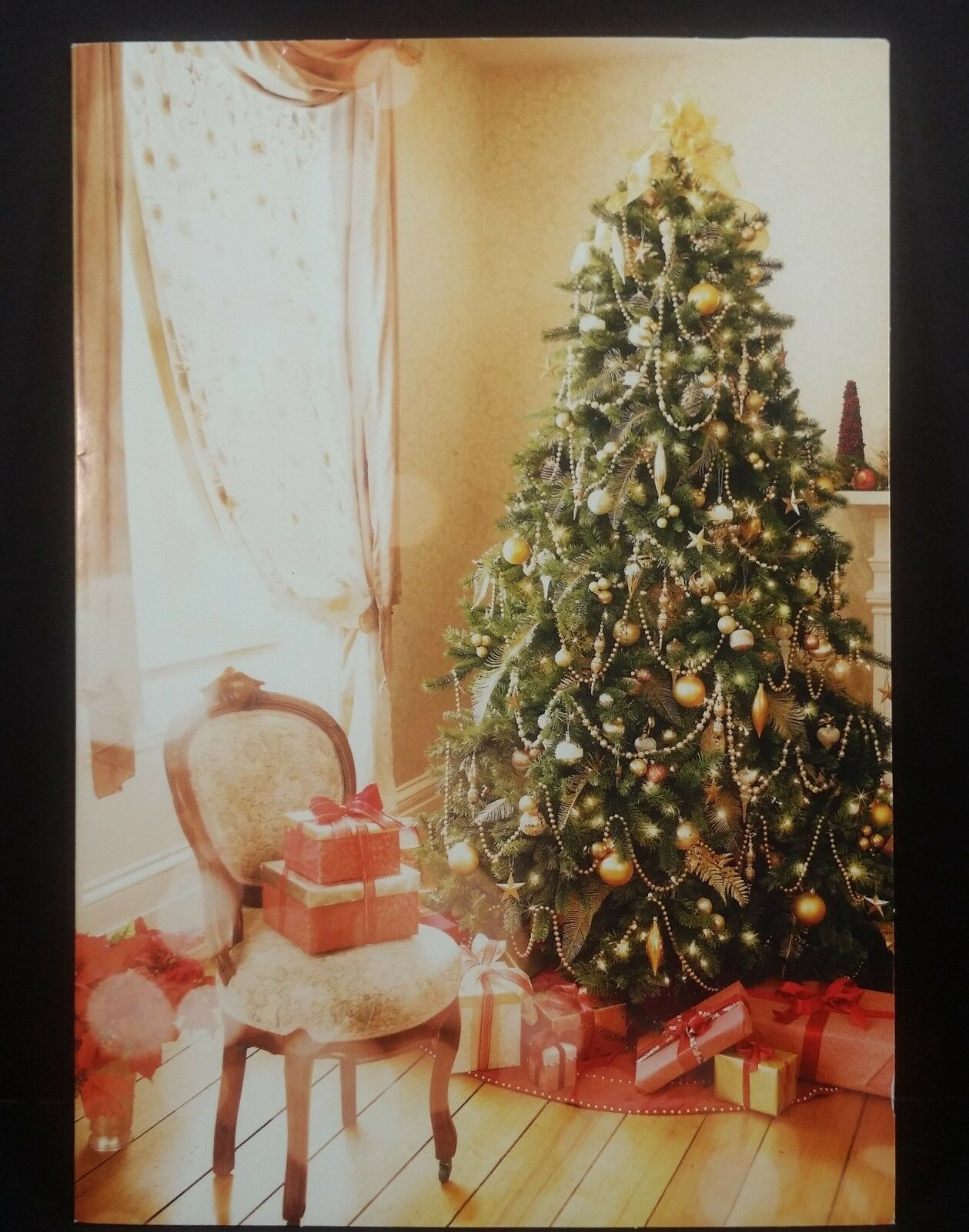 Vintage american greetings used christmas card christmas tree vintage american greetings used christmas card christmas tree gifts presents 1 of 2free shipping m4hsunfo