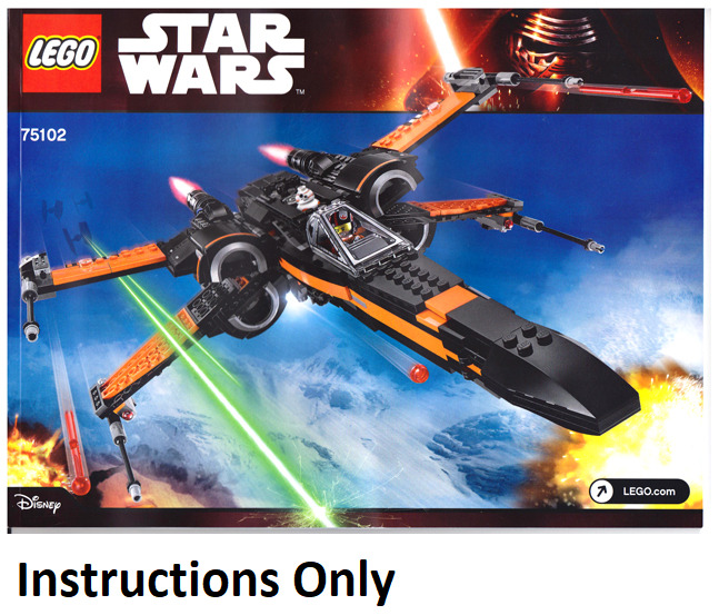 New Instructions Only Lego Poes X Wing Fighter 75102 From Set Force