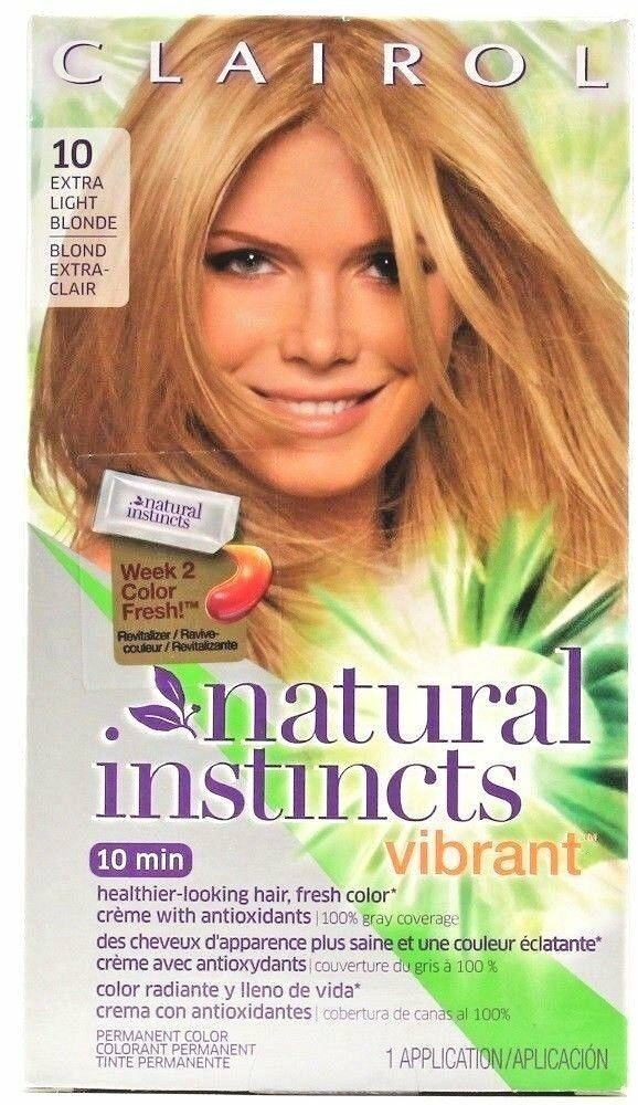 Clairol Natural Instincts Vibrant 10 Extra Light Blonde Hair Color