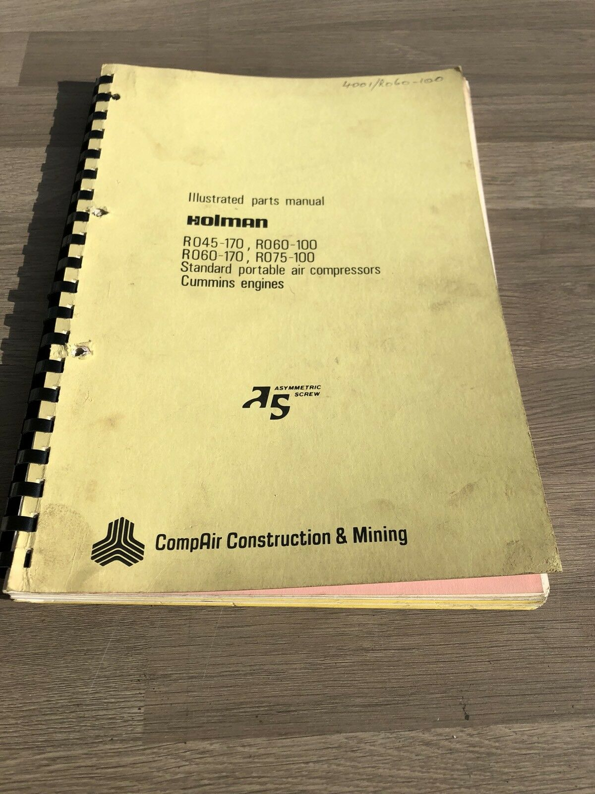 Compair Holman Ro45/170 Ro69/100 Ro75-170 Air Compressor Parts Manual  Cummins 1 of 5Only 1 available See More