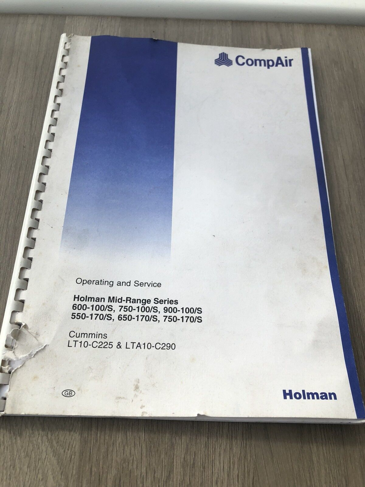 Compair Holman 750-100 900-100 750-170 Portable Air Compressor Operators  Manual 1 of 7Only 1 available See More