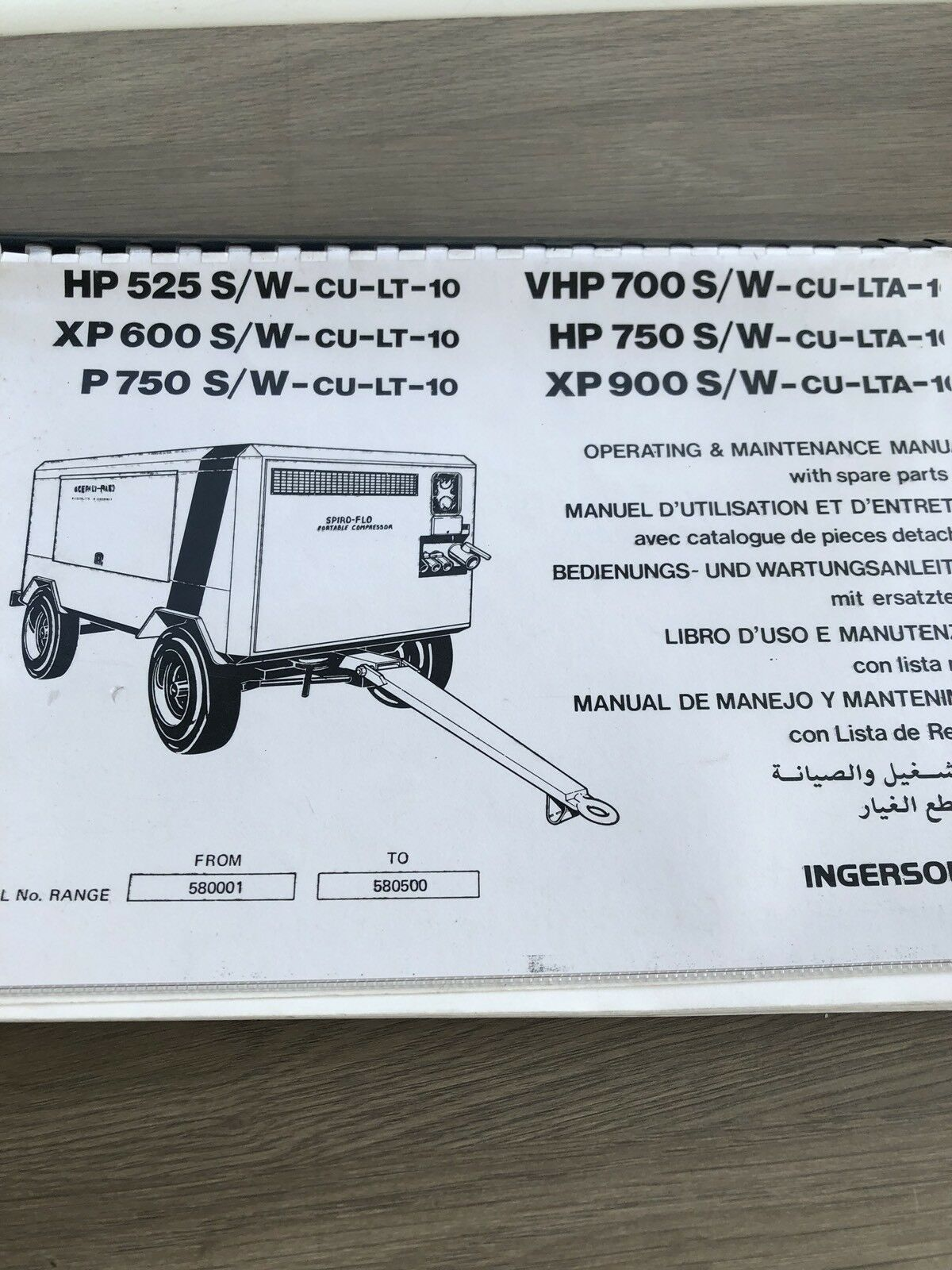 Ingersoll Rand Vhp700Wcat Xp900Wcat Air Compressor Inst. Main.parts Manual  Incv 1 of 3Only 1 available ...