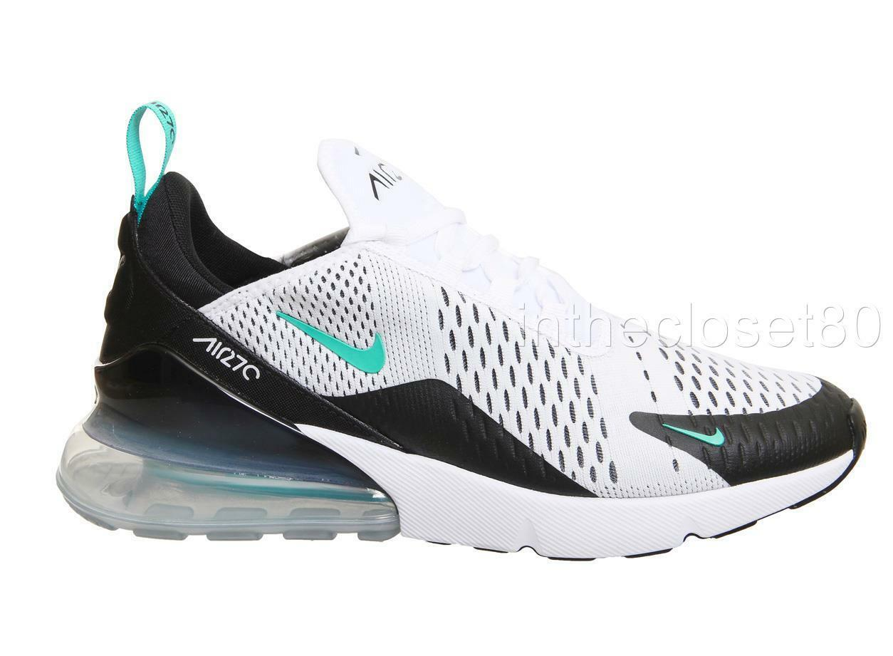 NIKE AIR Max 270 White Dusty Cactus Turquoise Black Mens Trainers