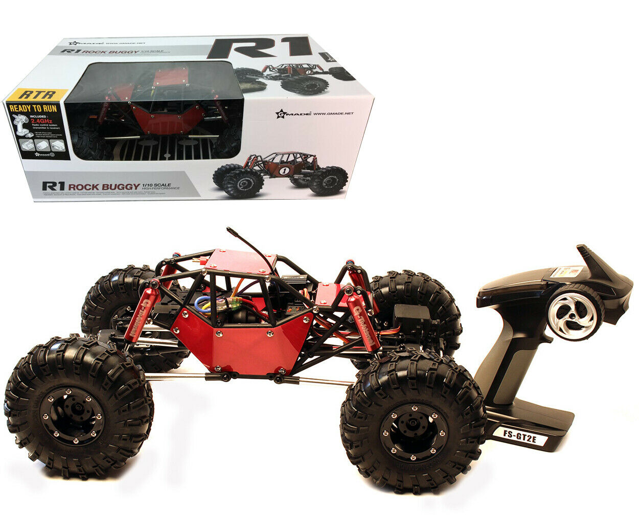 GMADE 1/10 R1 Rock Buggy RTR Tube Frame 4WD Rock Crawler w/ 2.4GHz ...