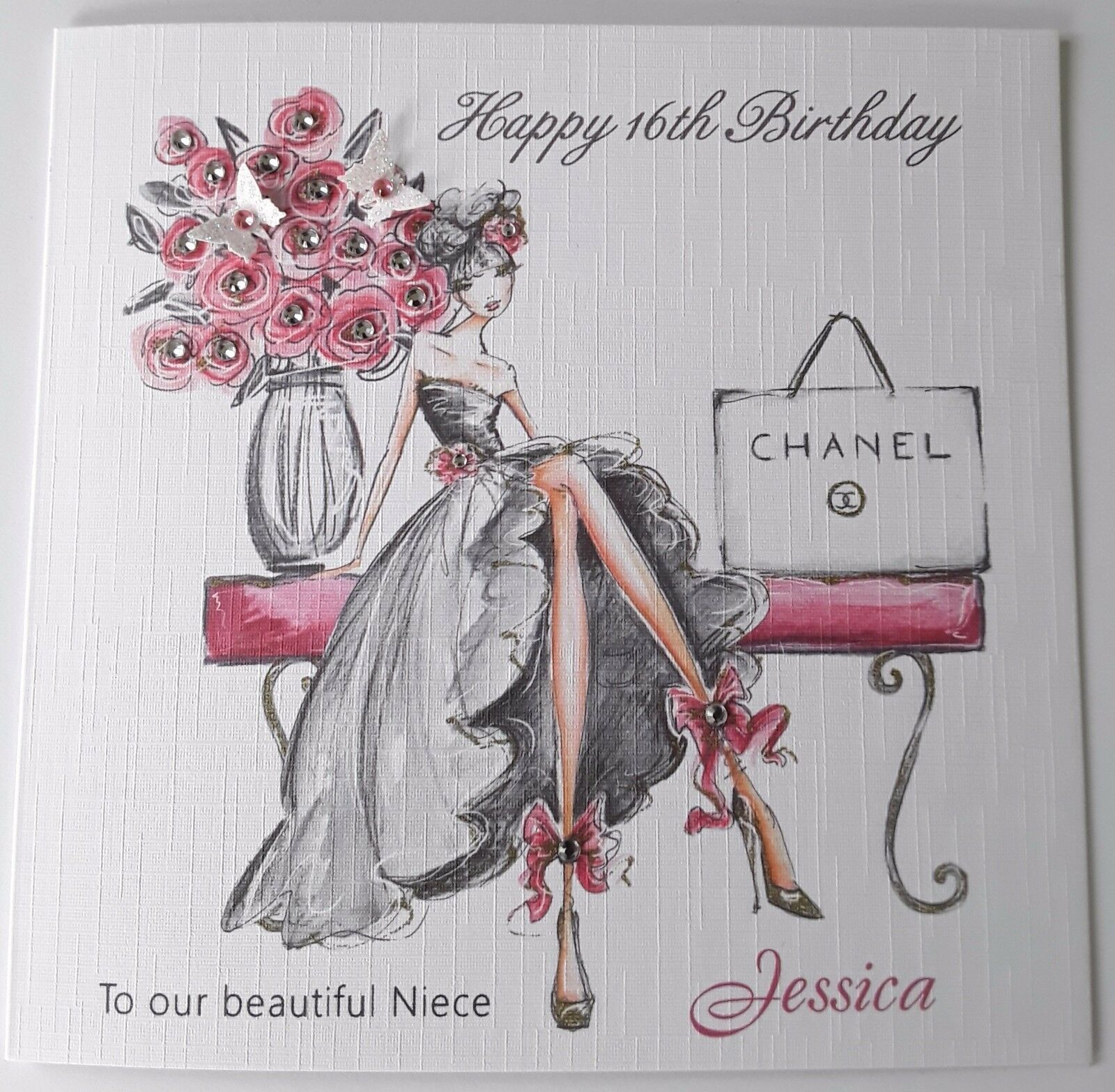 Personalised Birthday Card Niece Daughter Granddaughter Sister 18th 21st Etc 1 Of 3FREE Shipping