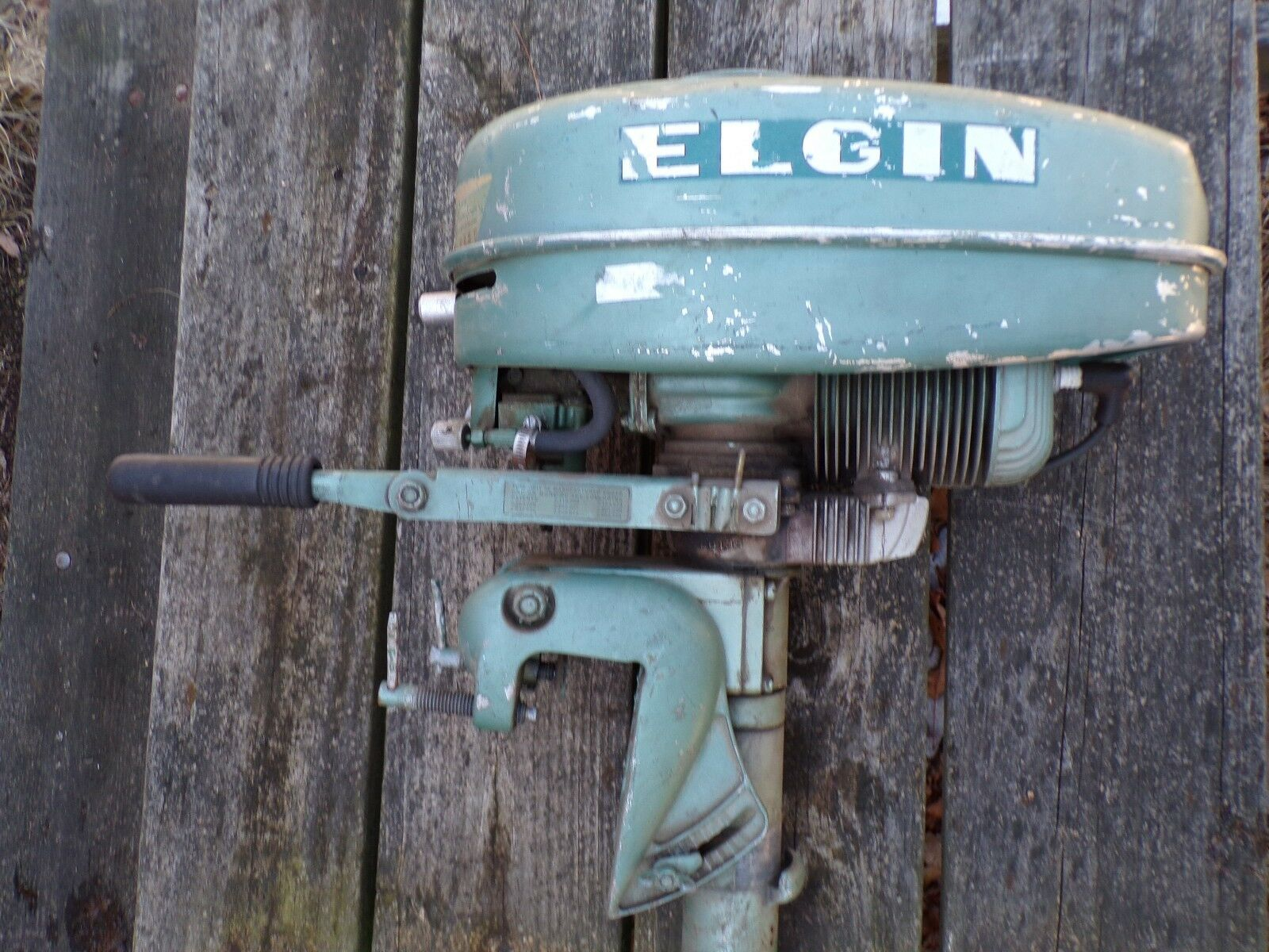 Vintage / Antique Elgin Outboard Boat Motor Sears 1 of 12Only 1 available  See More