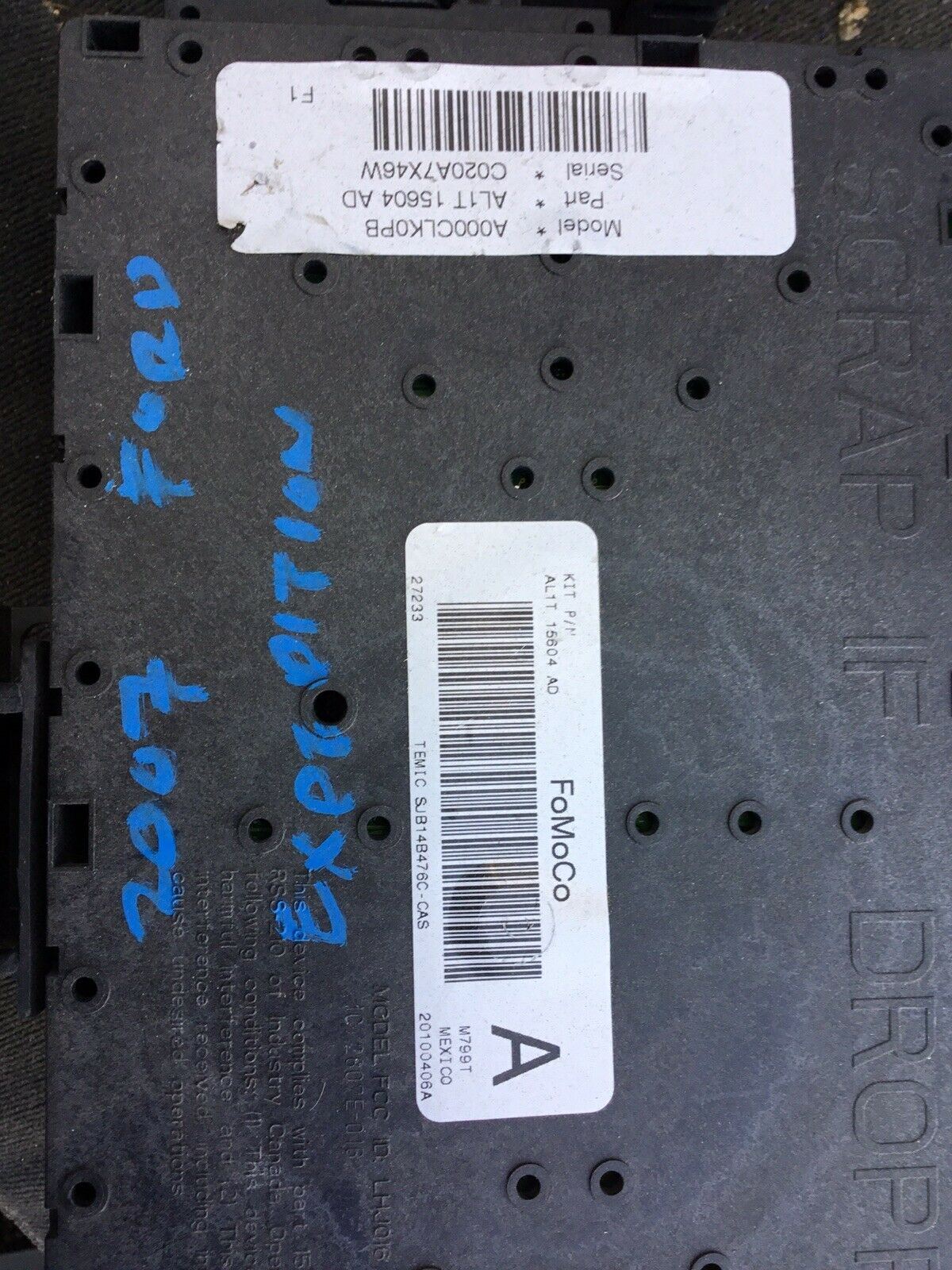 2007 Ford Expedition Fuse Relay Box AL1T-15604- AD 1 of 1Only 1 available  ...