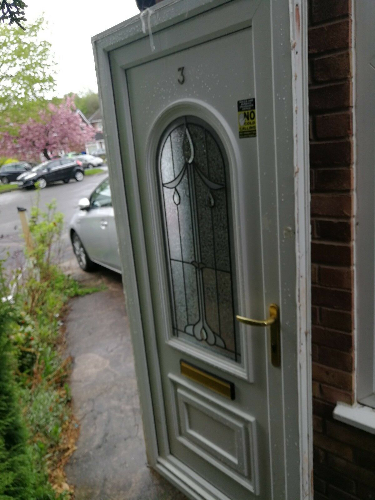 Upvc Glazed Feature External Front Door Frame Lh 3999