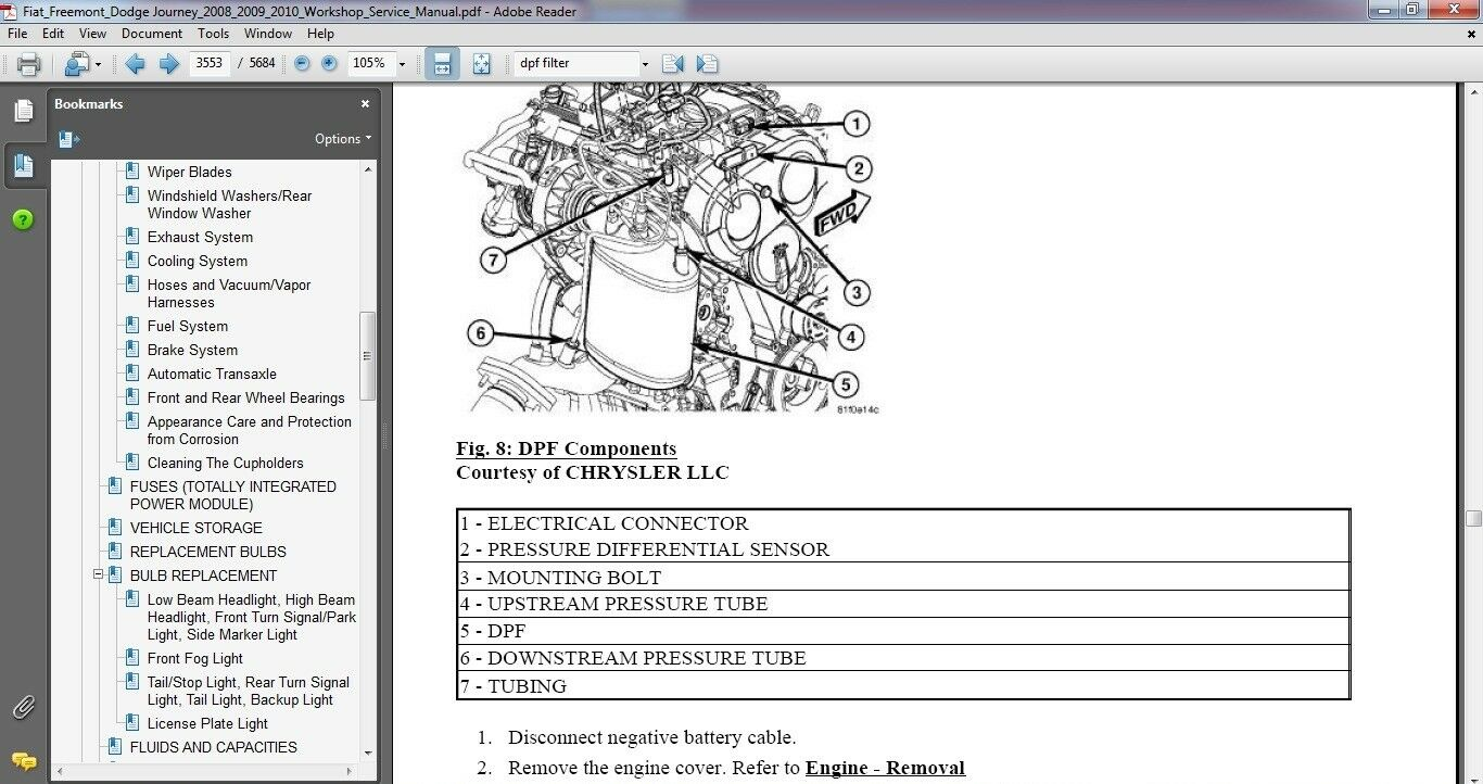 Fiat Freemont Dodge Journey 2008 2009 2010 Factory Service Repair Wiring Schematic Manual 1 Of 5only Available