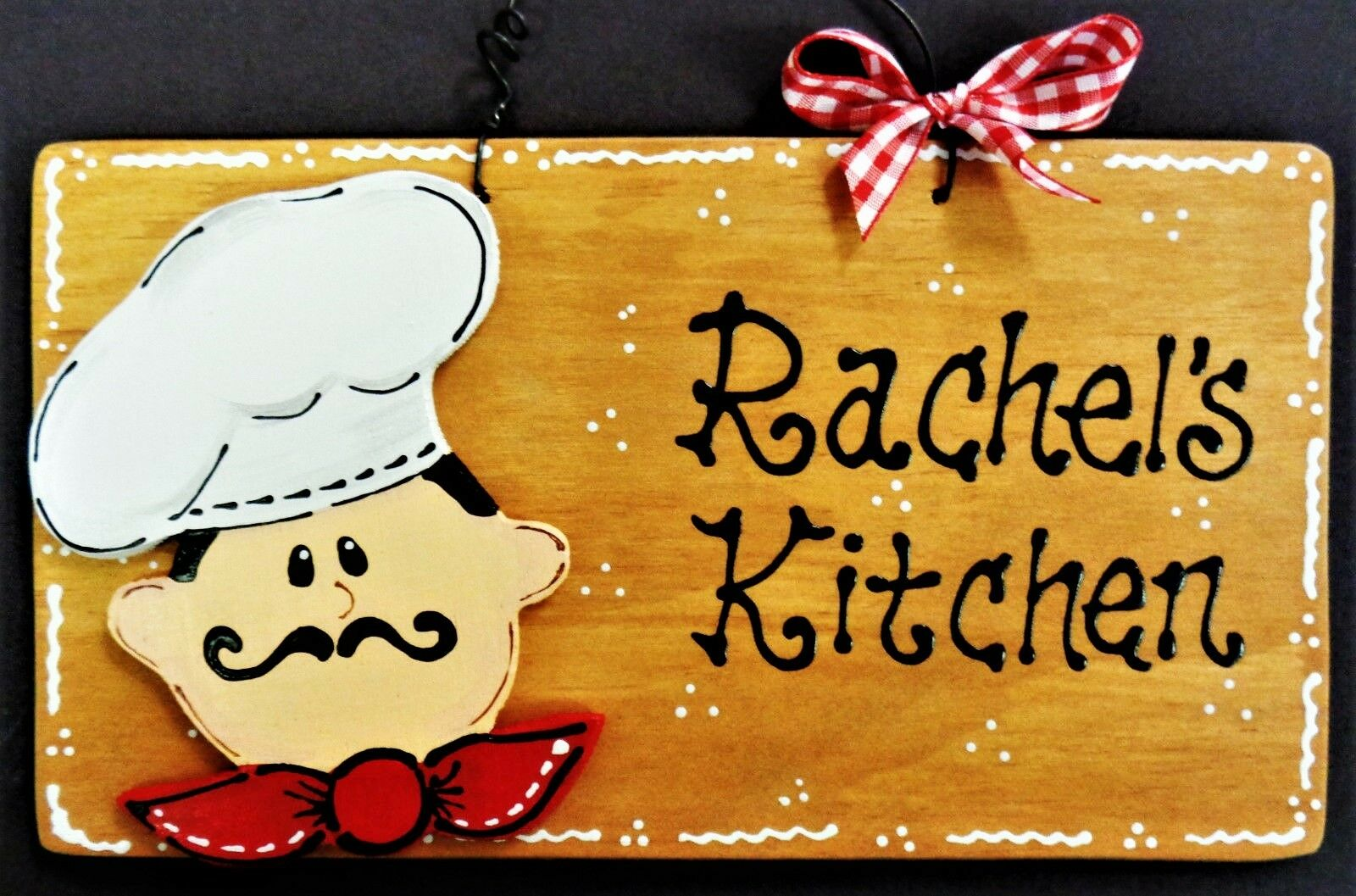 FAT CHEF PERSONALIZE Name KITCHEN SIGN Wall Hanger Plaque Cucina ...