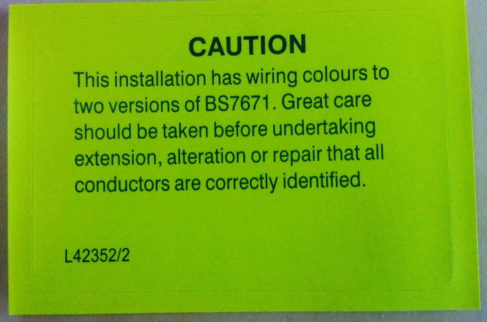 Caution 2 Colours Sticker Consumer Unit Fuse Board Labels Legends Electric  Grid Wylex Fuse Box Colours