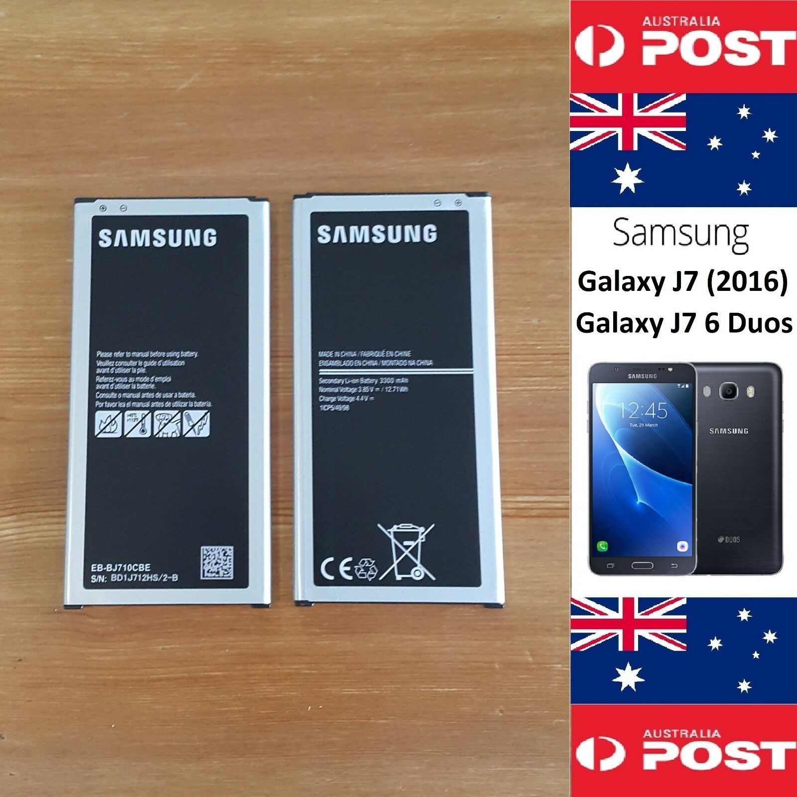Original Samsung J7 2016 6 Duos Battery Eb Bj710cbe 3300mah 1 Of 12 See More