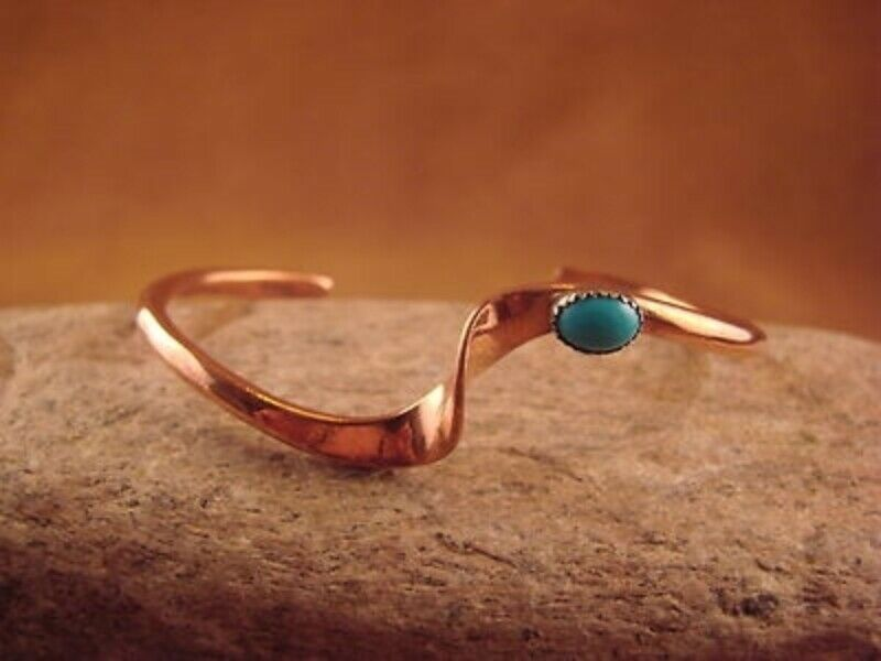 Native American Jewelry Copper Turquoise Bracelet By Skeets 1 Of 7free Shipping