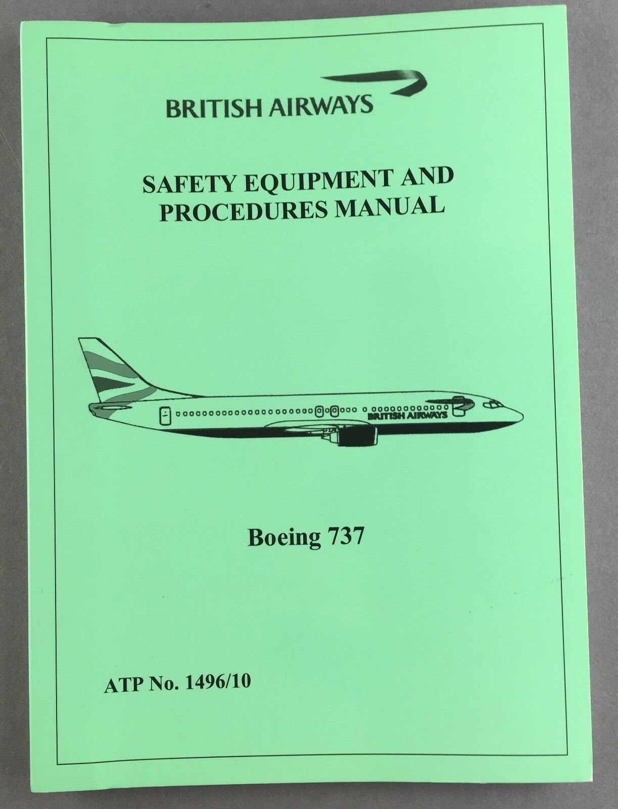 British Airways Boeing 737 Cabin Crew Safety Equipment Sep Manual Ba Card 1  of 12 See More