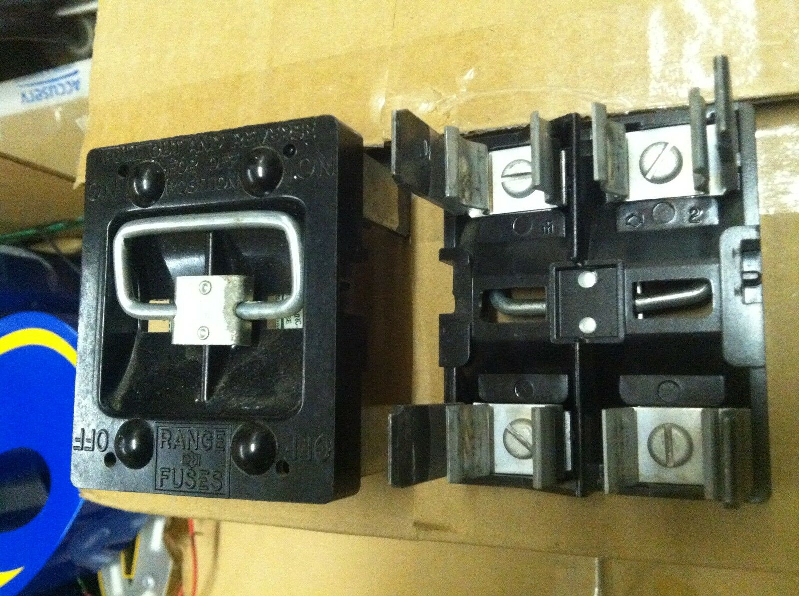 Cutler Hammer 60 Amp Range Fuse Panel Pullout Holder 4500 Vintage Box 1 Of 1only Available
