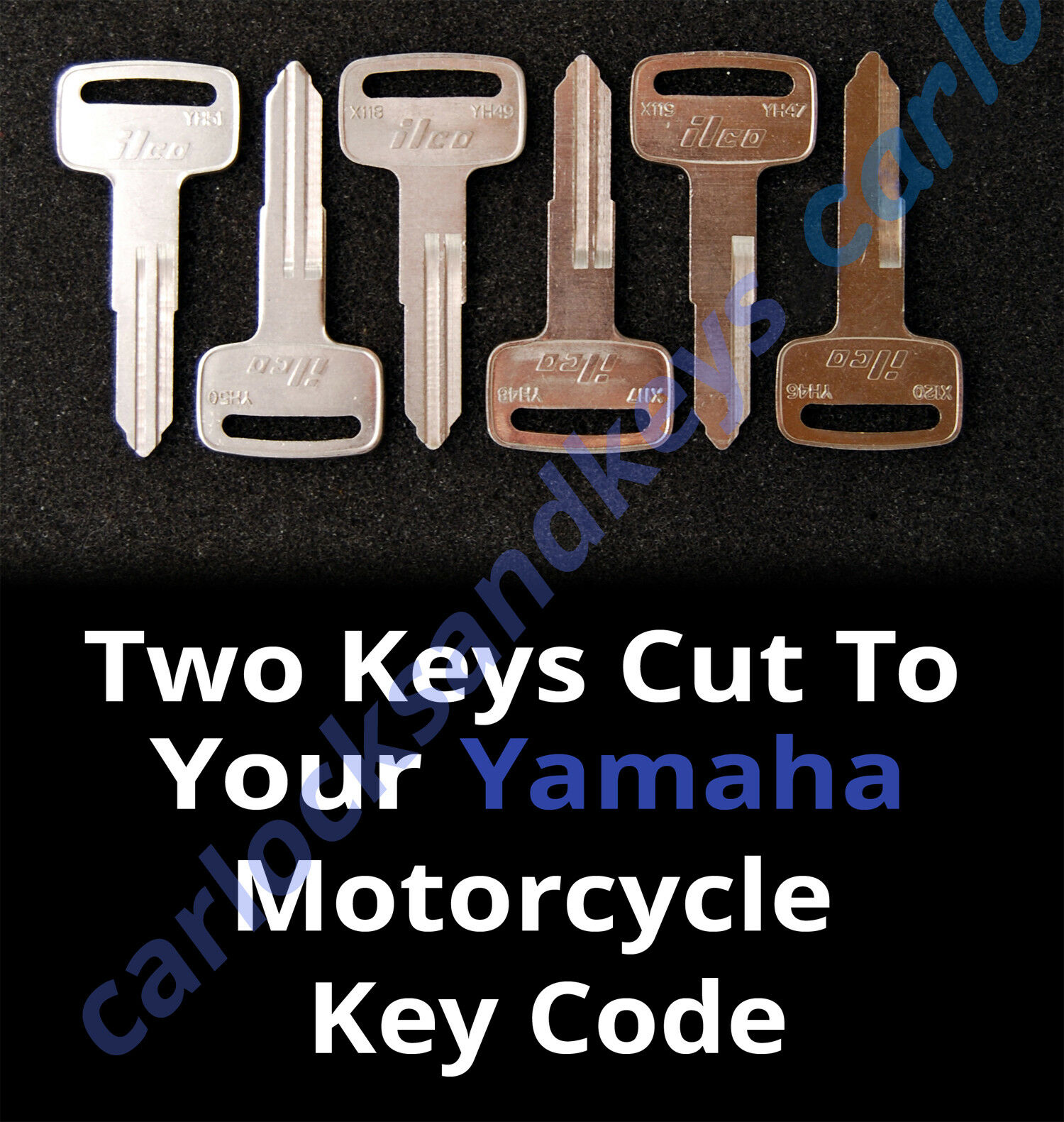 1981 2007 Yamaha Virago Motorcycle Keys Cut By Code 2 Working Fzx700 Wiring Diagram 1 Of 2free Shipping