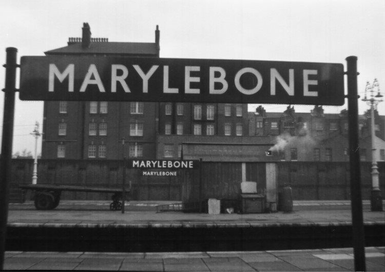Photo Lner Marylebone Railway Station Nameboard Great - Marylebone station's anniversary