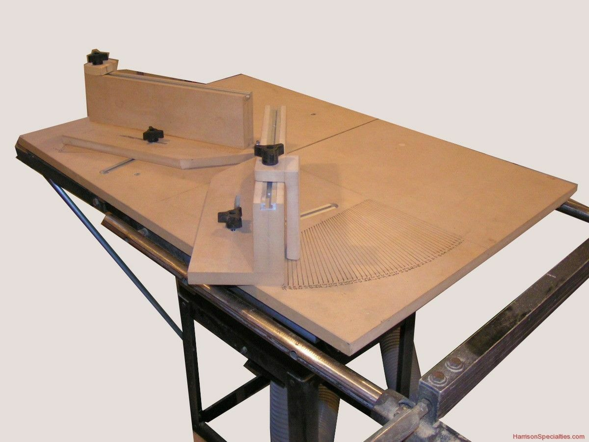 Miter Sled Woodworking Plans Plan Table Saw Gauge Picclick