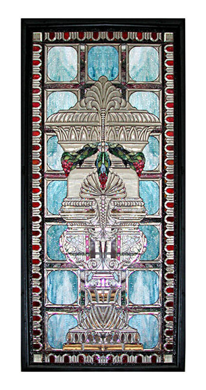 Stained Glass Window, Beveled Glass, Antique #5025