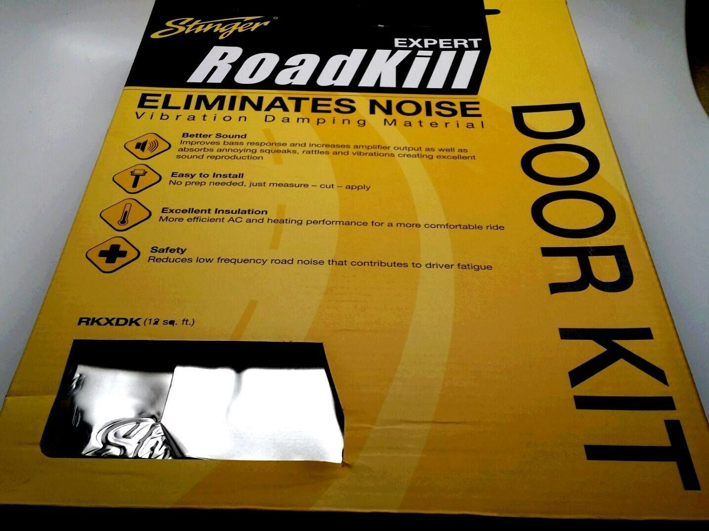 Stinger RKXDK Roadkill Expert Series Sound Damping Material Door Kit 12-Foot