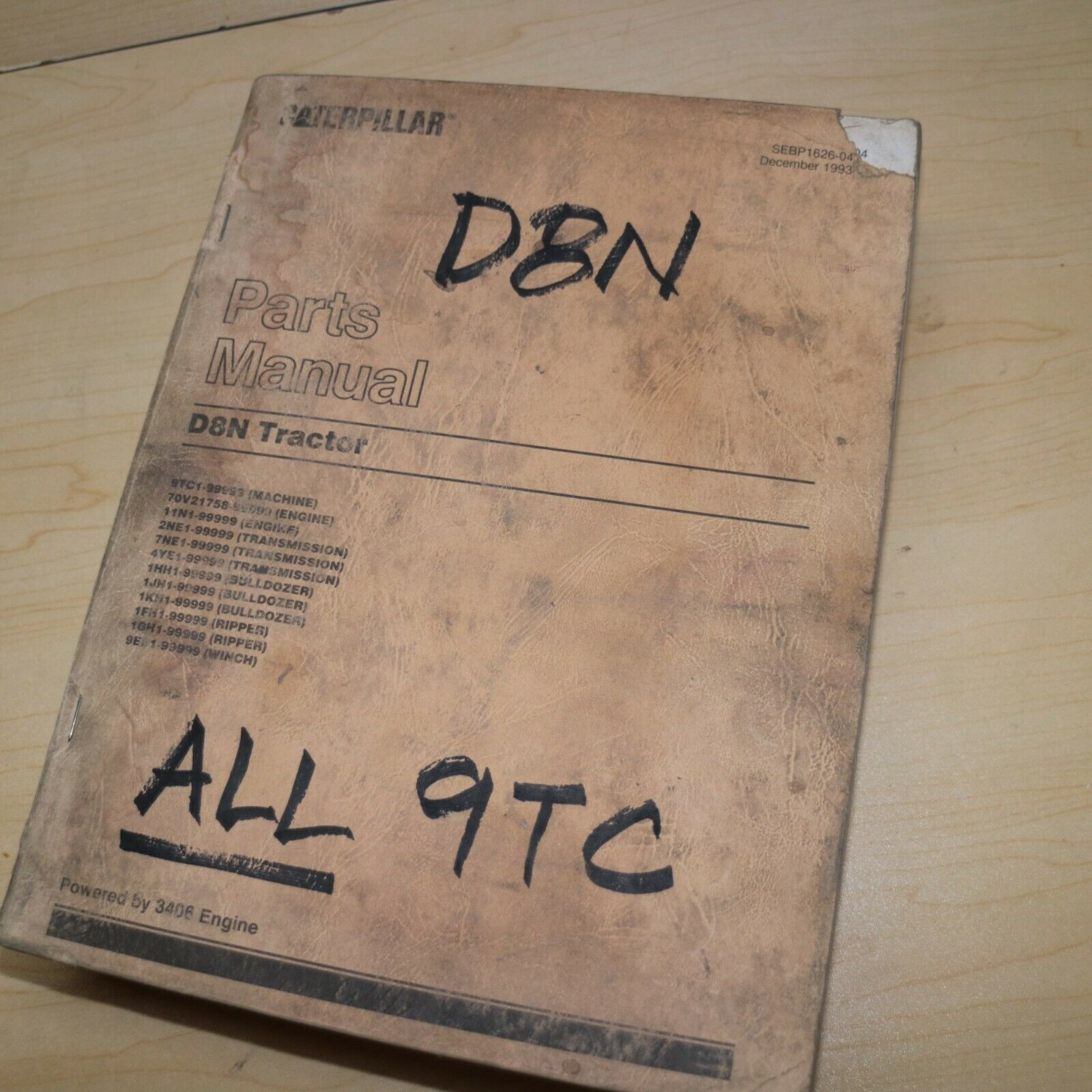CAT Caterpillar D8N Dozer Crawler Parts Manual book catalog spare Tractor  9TC 1 of 4Only 2 available CAT Caterpillar D8N Dozer Crawler Parts Manual  ...