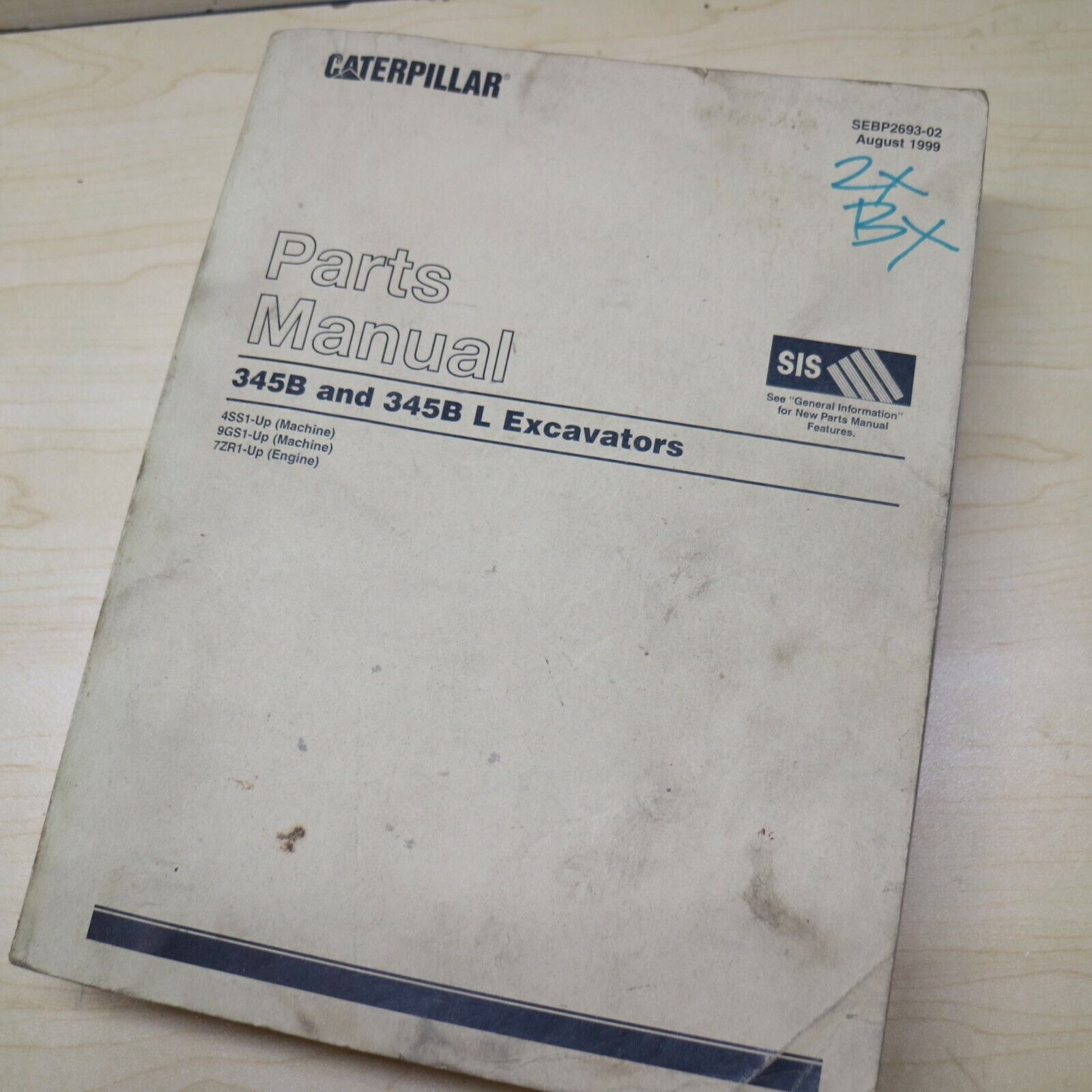 CAT Caterpillar 345B L Crawler Excavator Parts Manual Book catalog list  SEBP2693 1 of 4Only 3 available ...