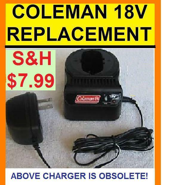 Coleman (Obsolete) 18v Volt Battery Charger Alternative Replacement -1,725 SOLD!