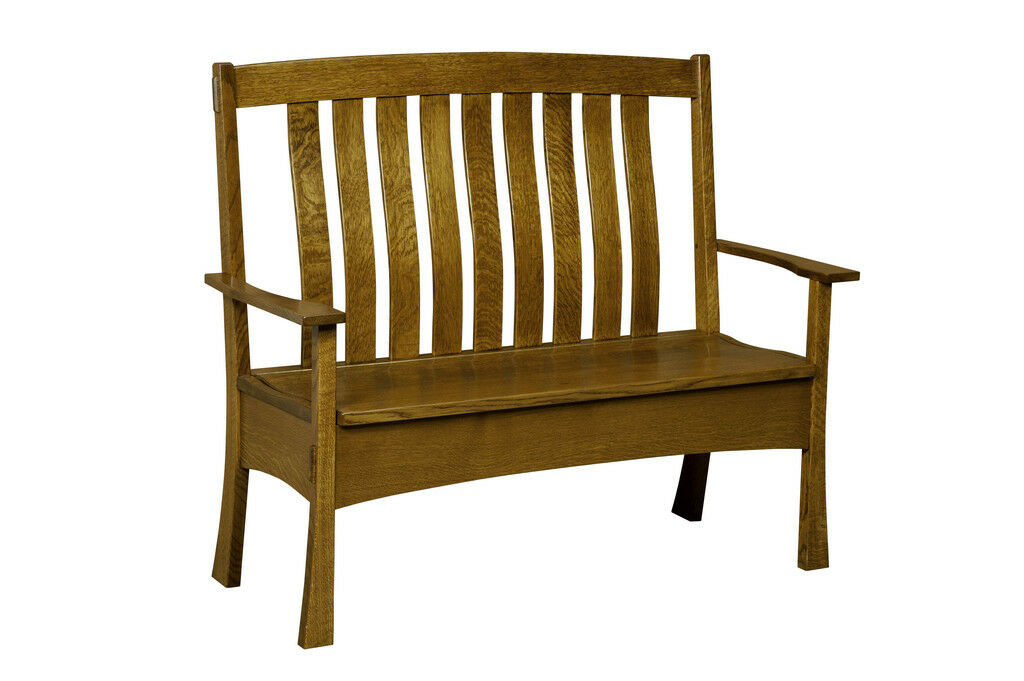Amish Bench Wooden Wood Entry Benches Storage Seat New Picclick