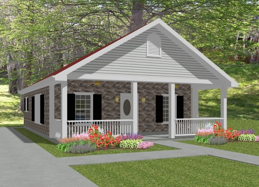 Complete House Plans 836 S F 2 Bed 1 Bath Laura Picclick