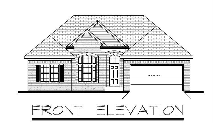 1421sf ranch house plan w garage on basement Ranch house plans with basement 3 car garage