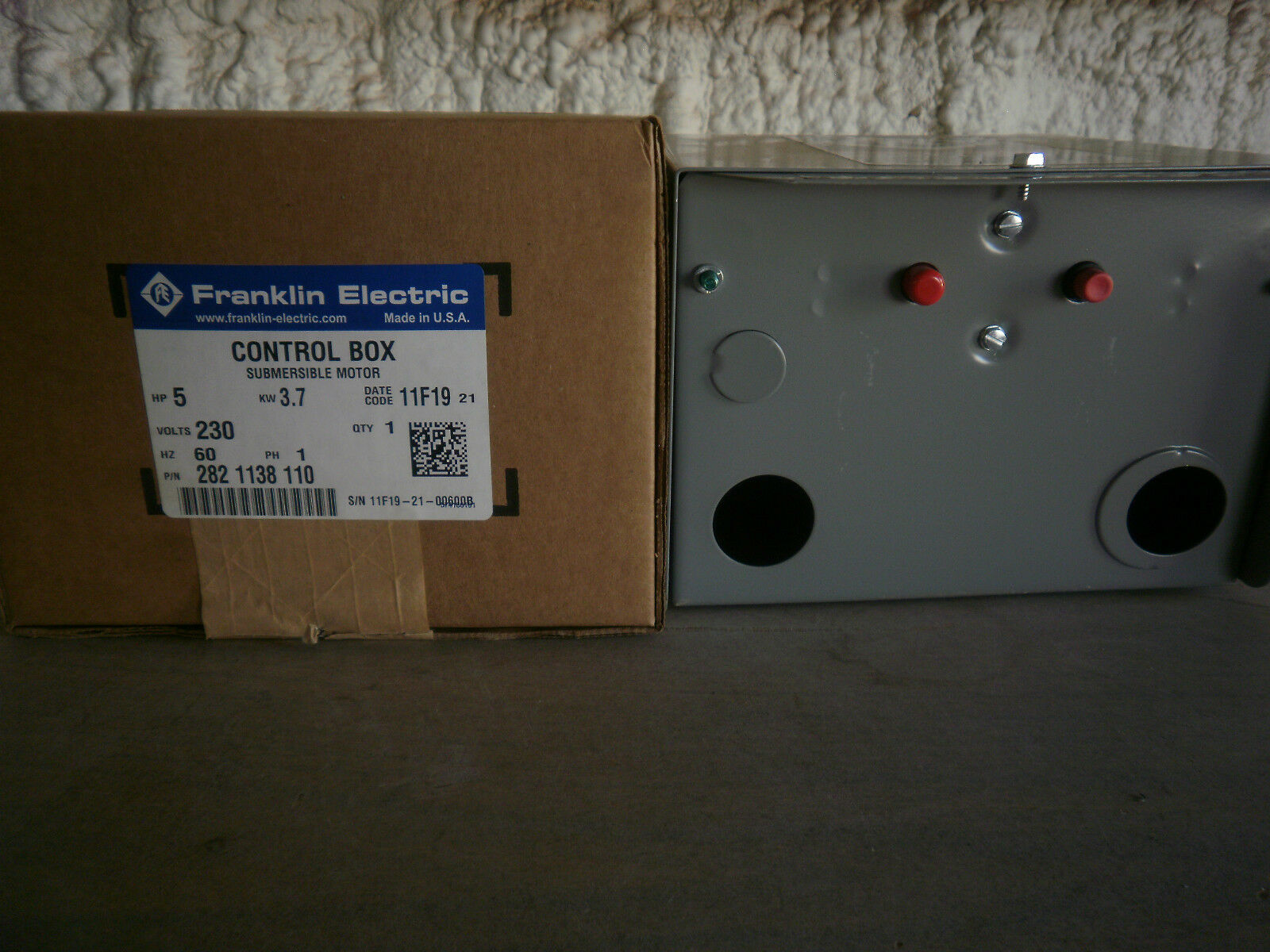 5 Hp Franklin Electric Submersible Motor Control Box 28000 Qd 1 Of 6