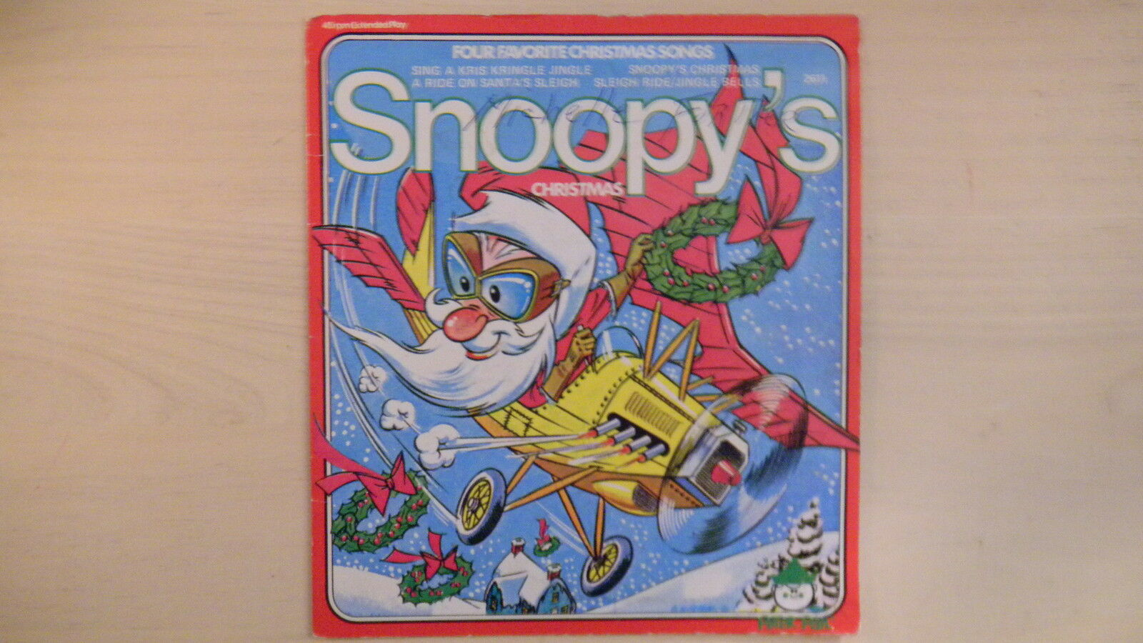 peter pan four favorite christmas songs records snoopys christmas 45 rpm ep 1 of 4only 1 available see more - Snoopy Christmas Song