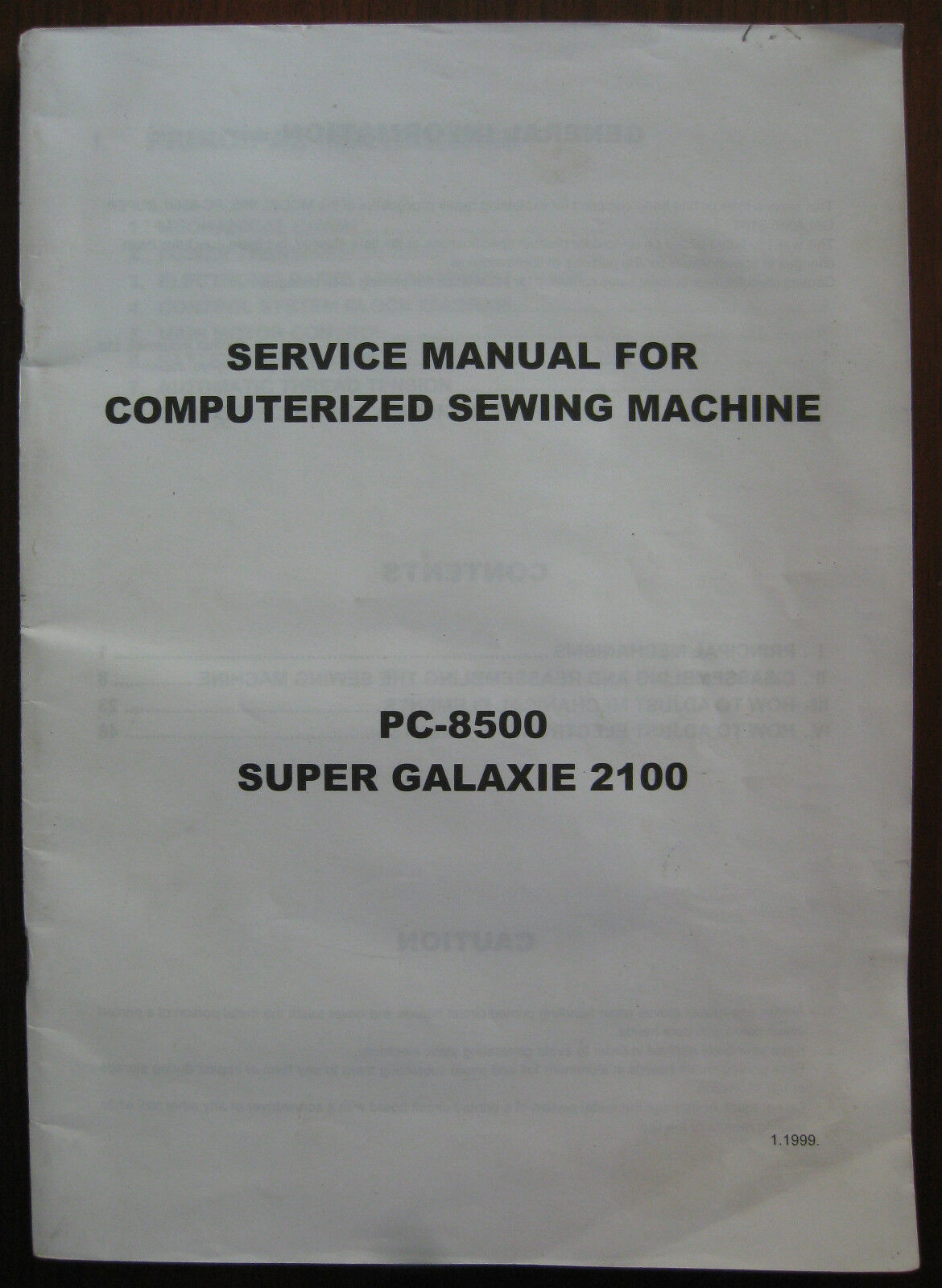 pc 8500 sewing embroidery machine