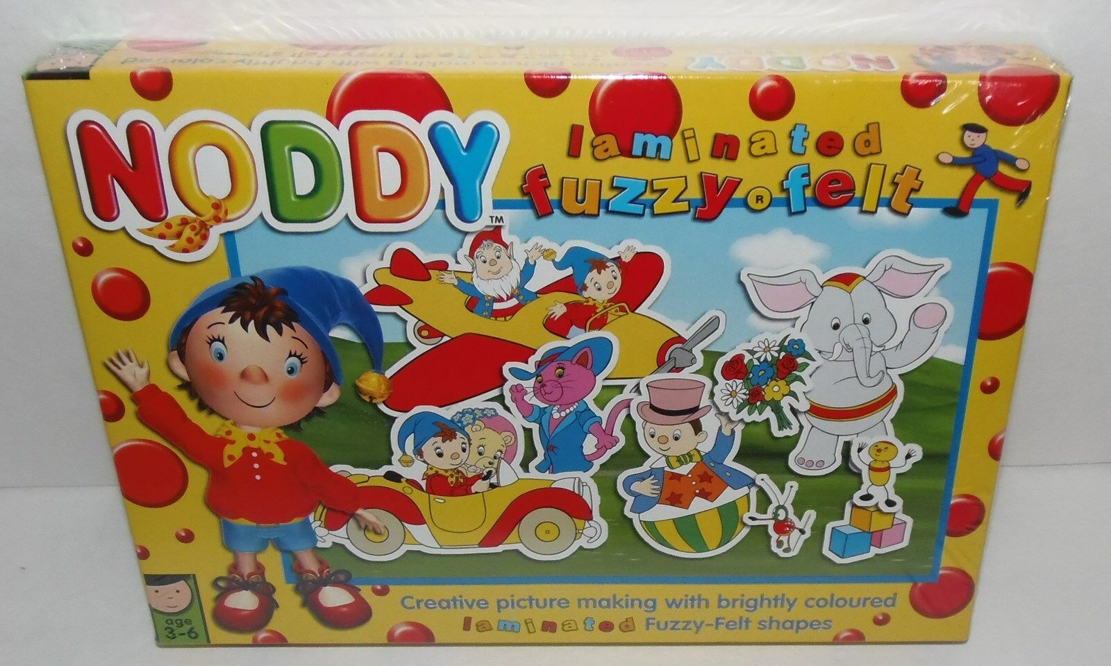 new noddy in toyland laminated fuzzy felt picture making