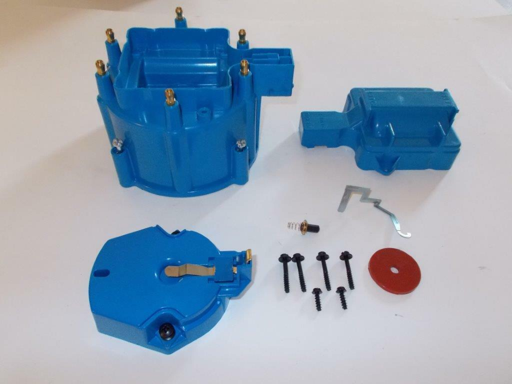 6 Cylinder Hei Distributor Cap Coil Cover Rotor Kit Blue Gm Chevy 1 Of 2free Shipping