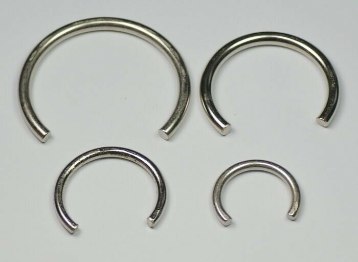 4x Clock MAINSPRING CLAMPS HOLDERS clockmakers spring clamp parts repairs