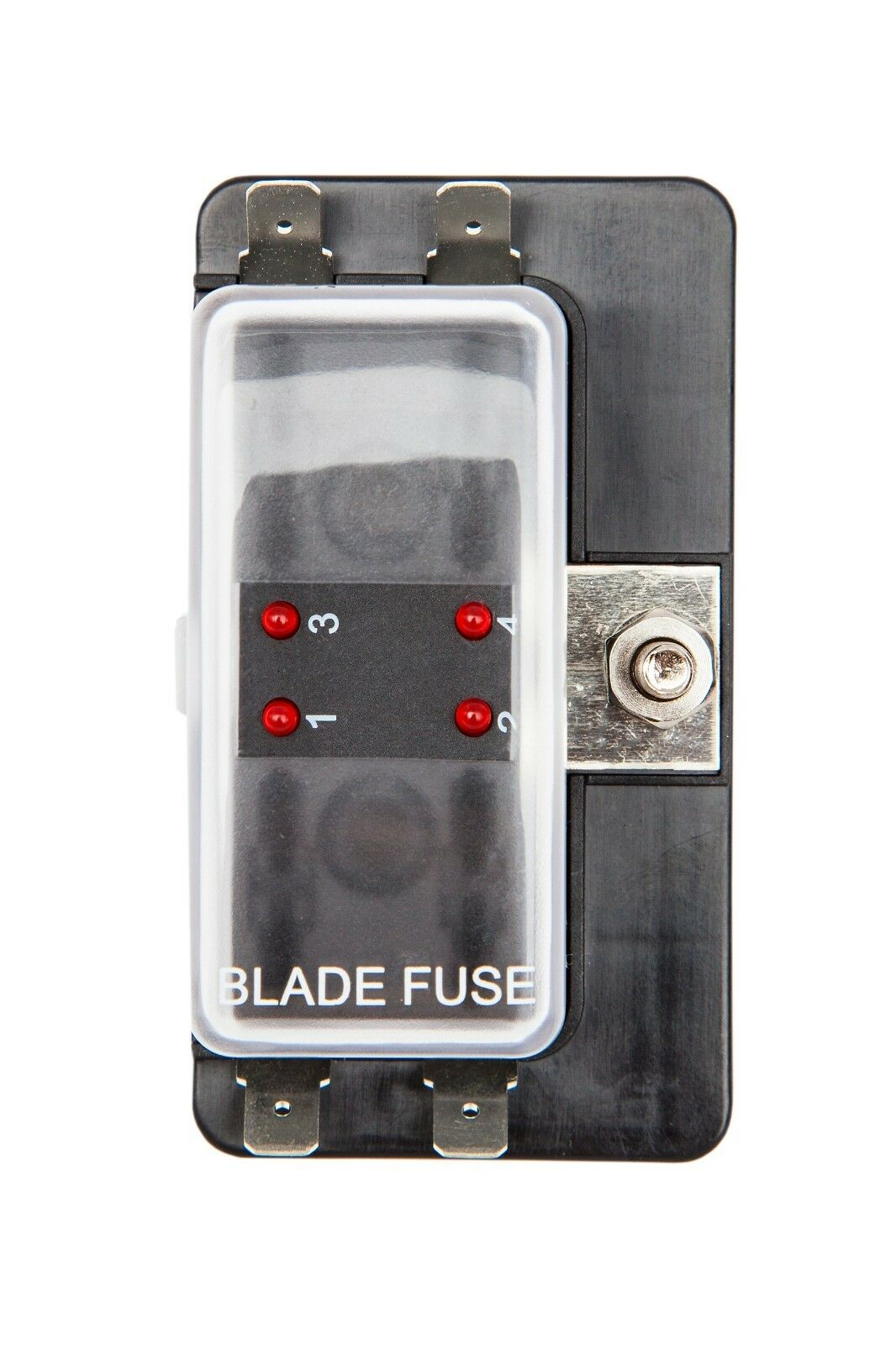 4 Way Led Blade Fuse Box Single Power In Holder Boat Marine 1 Of 1free Shipping