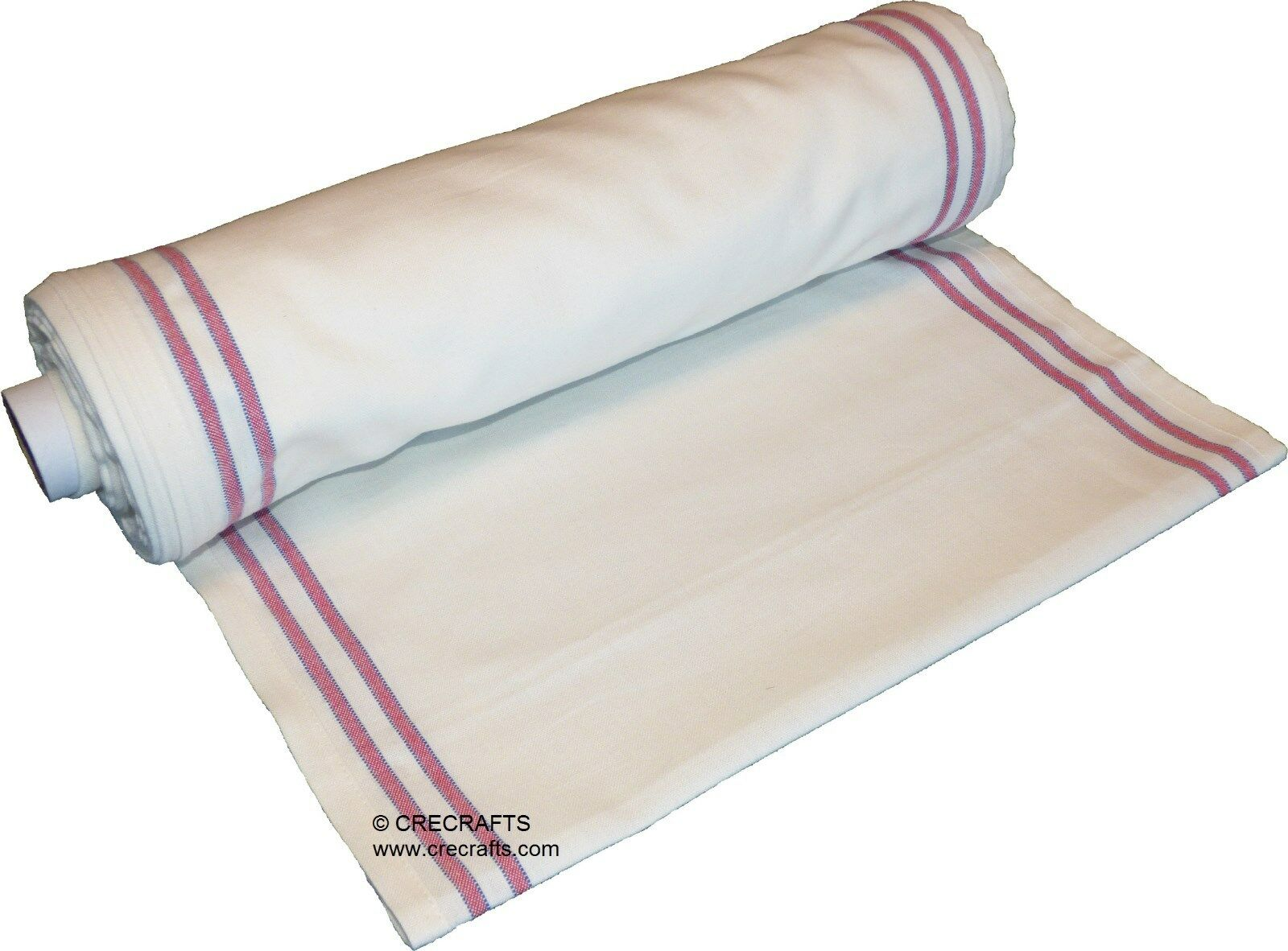 16 Inch Toweling Red Border By The Yard Huck Flour Sack