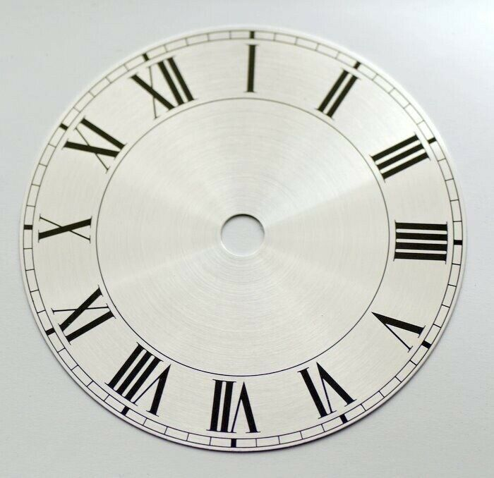 Clock dial 103mm roman numerals on silver background new dials clocks To Clear