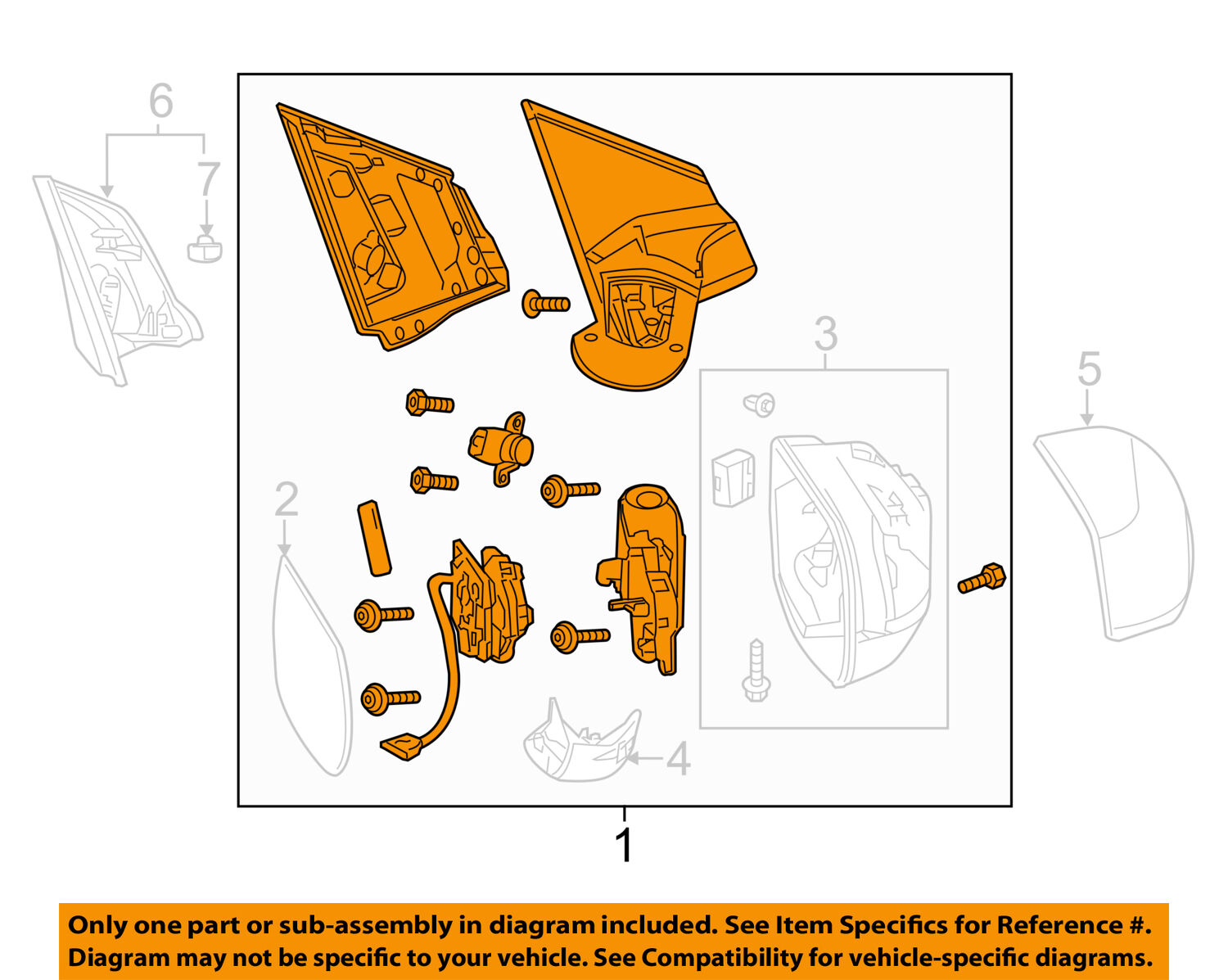Honda Oem Cr V Outside Mirrors Front Door Mirror Assembly Right Diagram 1 Of 2only Available