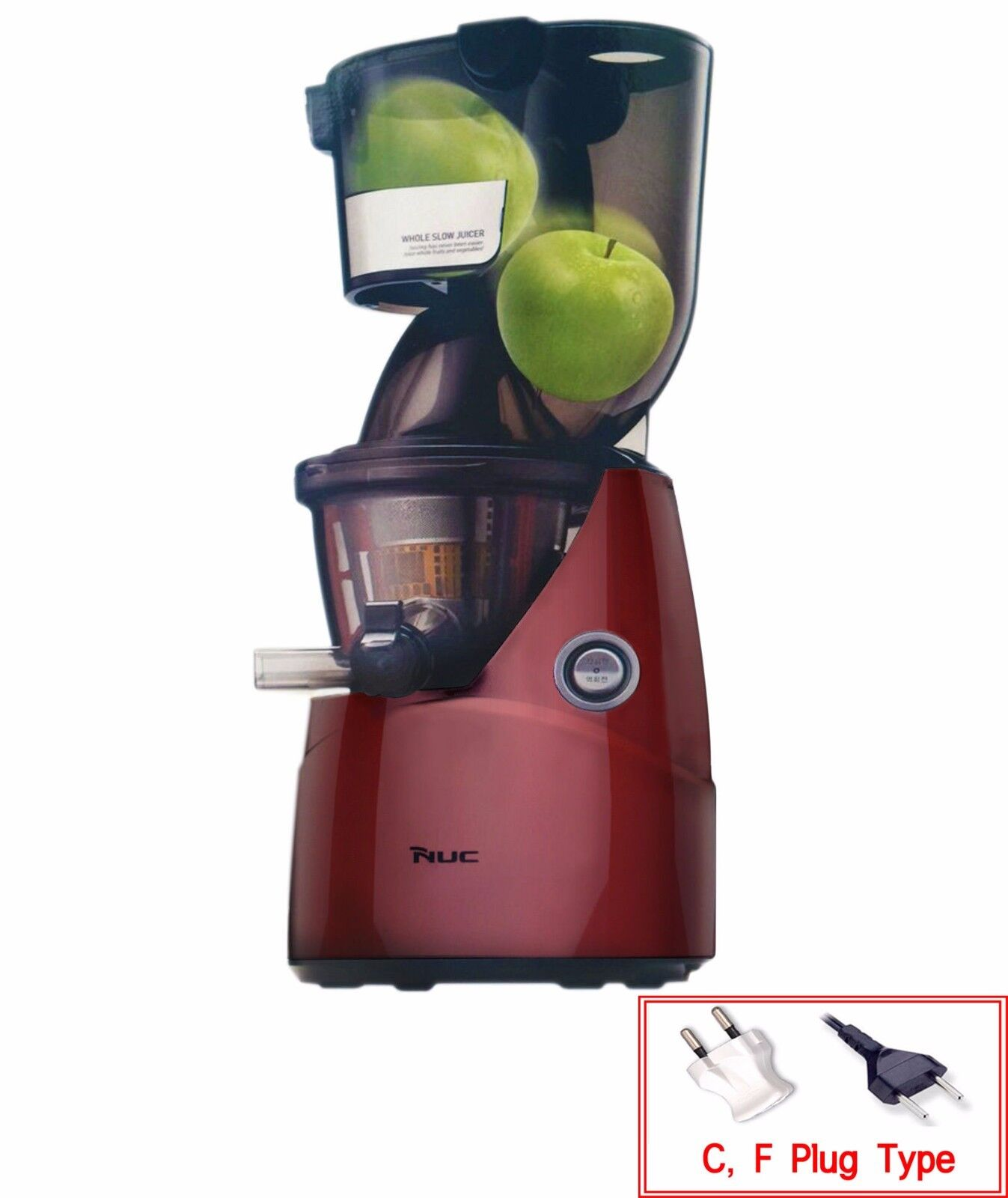 Nuc Kuvings Whole Slow Juicer : NUC Kuvings Whole Mouth Slow Fruit Juicer KJ-622R Juice Extractor (B6000PR) NEW! CAD $506.22 ...