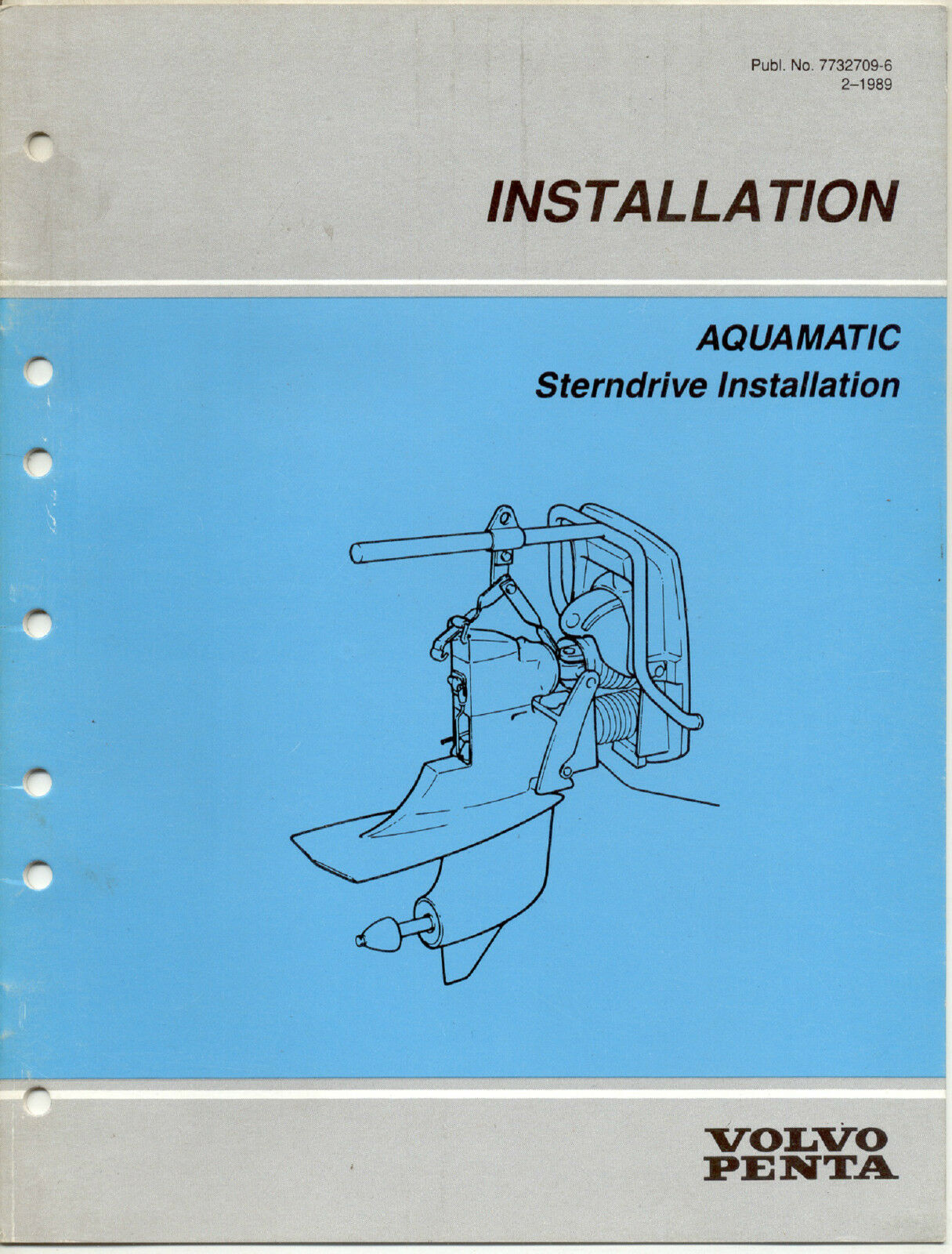 Volvo Penta Aquamatic Sterndrive Installation Manual 3999 Picclick 270 Trim Wiring Diagram 1 Of 1only Available