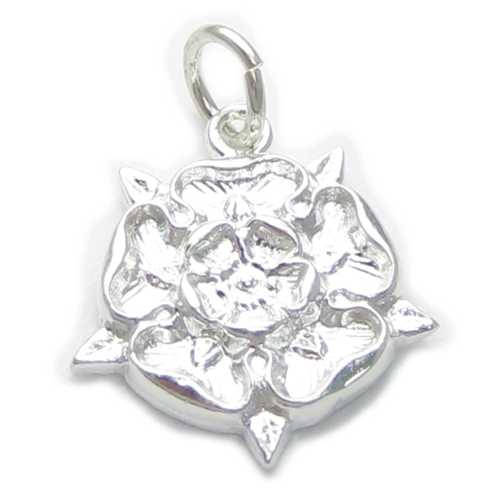 91c6dc9636d Tudor Rose sterling silver charm .925 x 1 York Union England charms EC493 1  of 5Only 3 available ...
