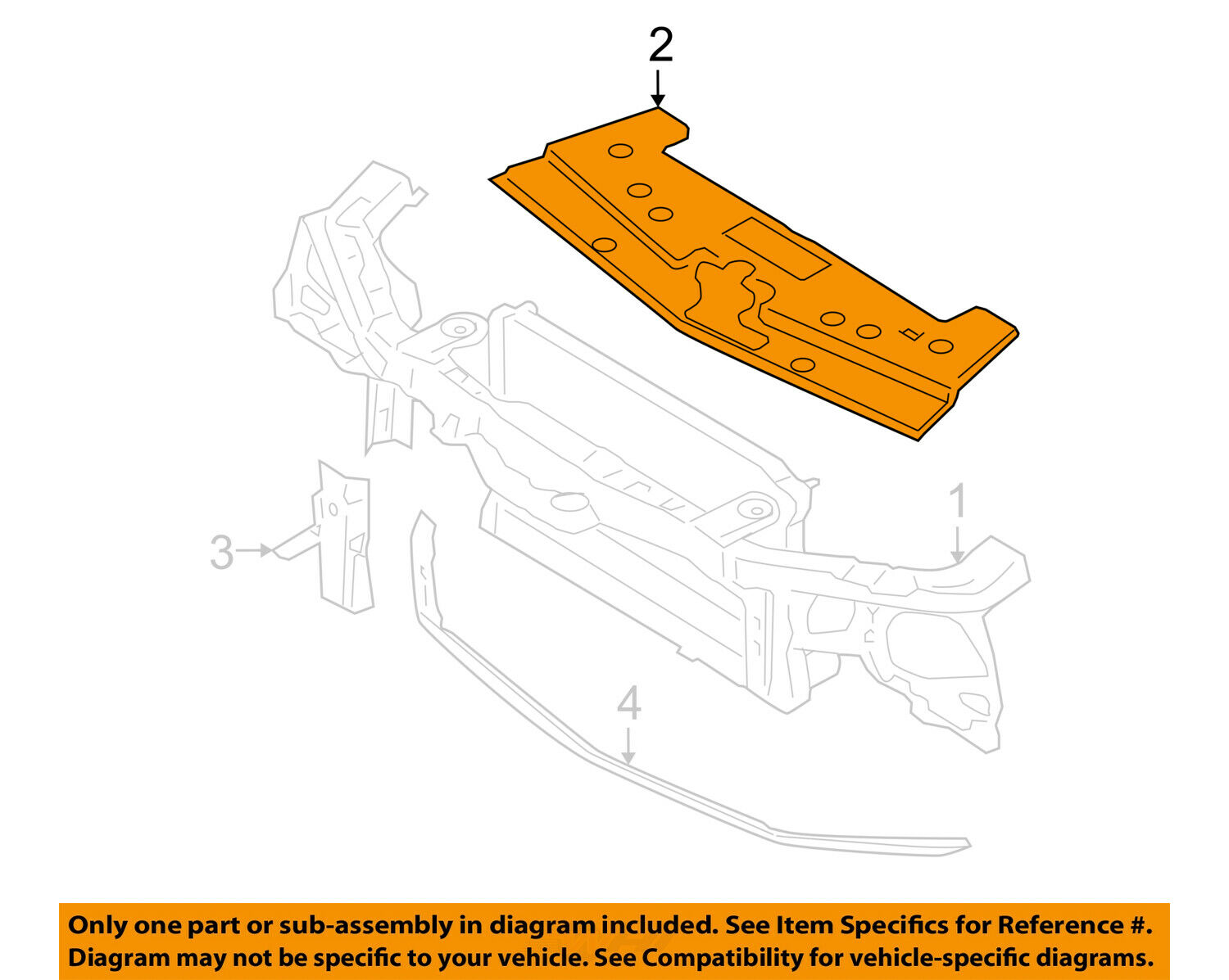 Ford Oem Mustang Radiator Core Supportupper Shield Cover Panel. 1 Of 2only 2 Available. Ford. 2000 Ford Mustang Radiator Overflow Tank Diagram At Scoala.co