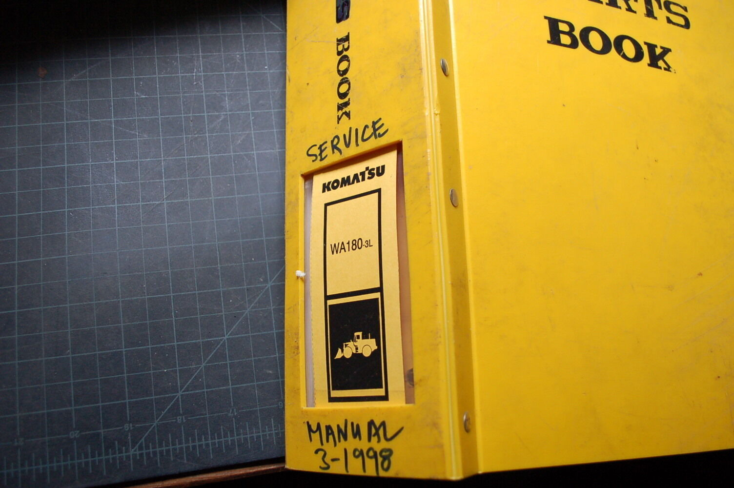 KOMATSU WA180-3L WHEEL LOADER Service Manual book shop repair owner front  end 1 of 1Only 1 available ...