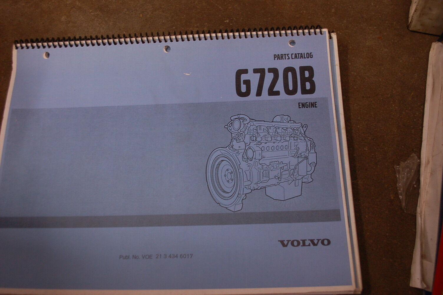 Volvo G720b Diesel Engine Parts Manual Book Catalog List Spare Owner Diagram 1 Of 3only Available Motor Shop