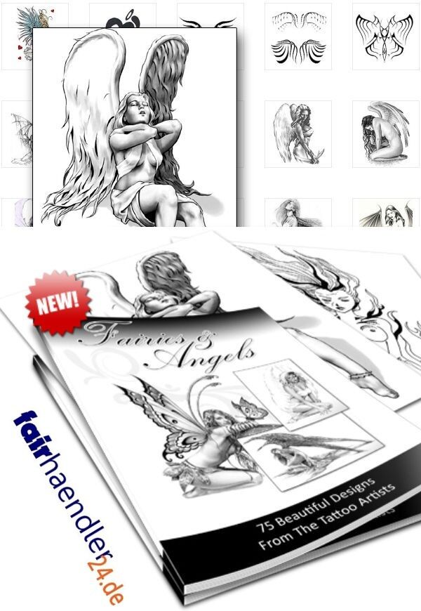 DOWNLOAD! ELFEN UND Engel Tattoos Fairies and Angels Tattoo Vorlagen ...